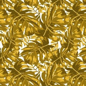 """4"""" Tropical Leaves - Gold"""