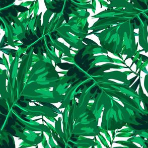 "36"" Tropical Leaves - Bright Green"