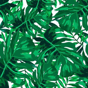 """8"""" Tropical Leaves - Bright Green"""