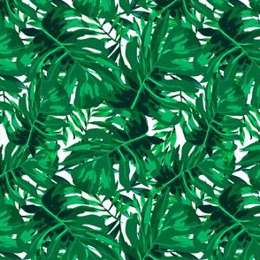 """4"""" Tropical Leaves - Bright Green"""