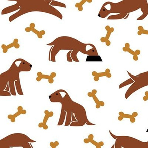 dogs and bones (brown)