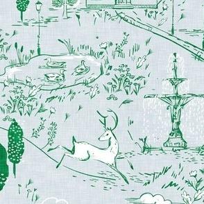 Le Parc Toile (emerald)