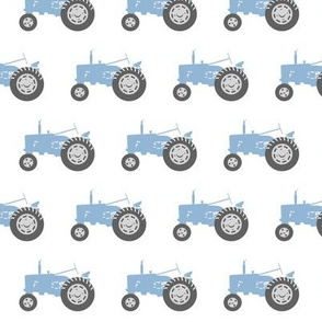 blue tractors - farm fabric