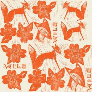 Wild Dogwood // foxes and dogwood flowers in ginger