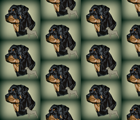rotweiler fabric by bow_lady_design on Spoonflower - custom fabric