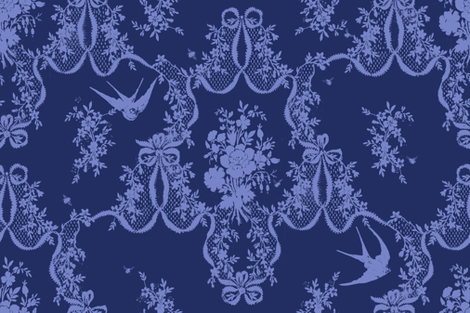 Willa Toile ink fabric by lilyoake on Spoonflower - custom fabric