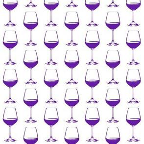 Purple Wine Glasses // Small