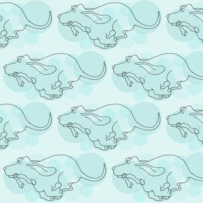 Basset Hounds Design in Aqua