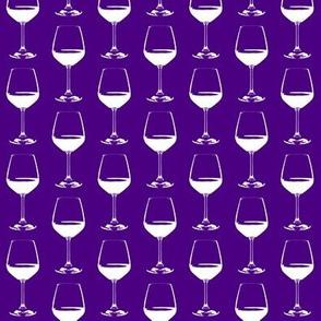Wine Glasses on Indigo // Small