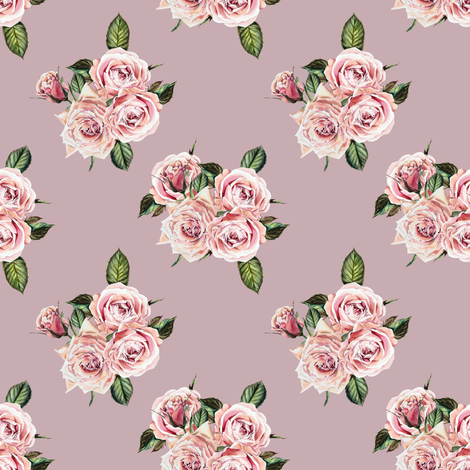 """4"""" Wild Child Roses - Antique Rose fabric by shopcabin on Spoonflower - custom fabric"""