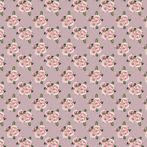 "1.5"" Wild Child Roses - Antique Rose fabric by shopcabin on Spoonflower - custom fabric"