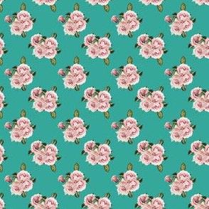 """1.5"""" Wild Child Roses - Aqua"""