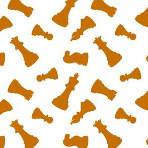 Orange Chess Pieces