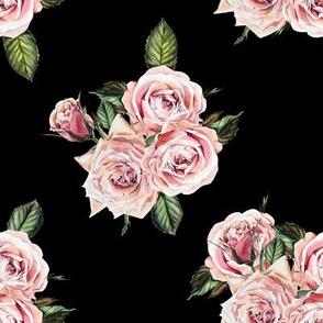 """8"""" Wild Child Roses - Black"""
