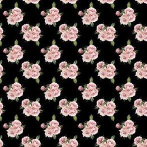 """1.5"""" Wild Child Roses - Black"""