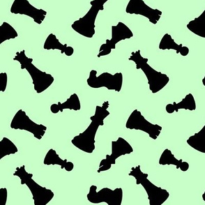 Chess Pieces // Light Green