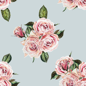 "21"" Wild Child Roses - Dusty Green"