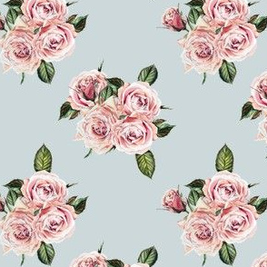 "4"" Wild Child Roses - Dusty Green"