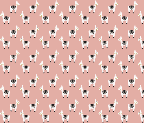 watercolor llamas // 56-2 fabric by ivieclothco on Spoonflower - custom fabric