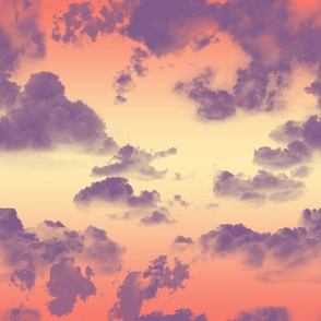 Cloudy Tropical Sunset Sky