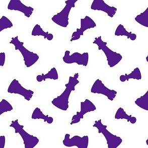 Purple Chess Pieces