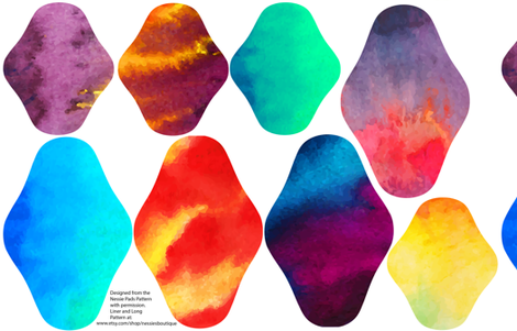 Pad Designs - Watercolor fabric by lambandewecrafts on Spoonflower - custom fabric