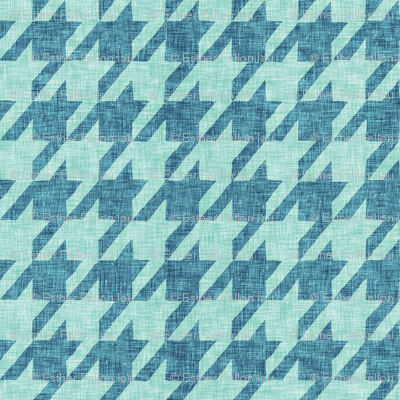 Le parc houndstooth (mint/teal)