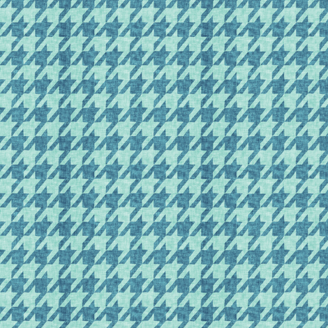 Le parc houndstooth (mint/teal)  fabric by nouveau_bohemian on Spoonflower - custom fabric