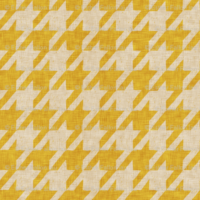 le parc houndstooth (mustard)