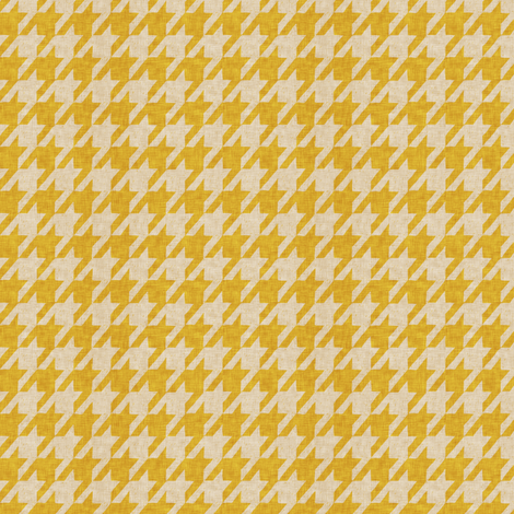 le parc houndstooth (mustard)  fabric by nouveau_bohemian on Spoonflower - custom fabric
