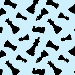 Chess Pieces // Light Blue