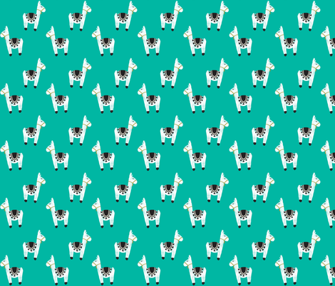 watercolor llamas // 130-6 fabric by ivieclothco on Spoonflower - custom fabric