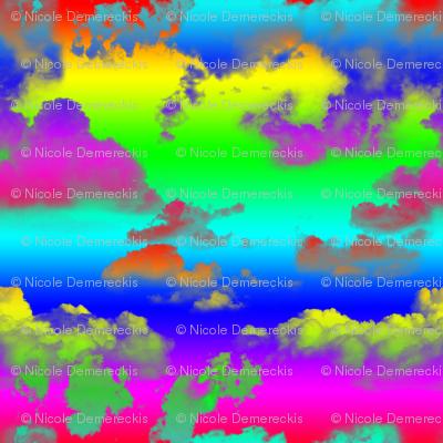 Rainbow Clouds Rainbow Sky