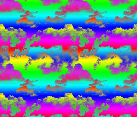Rainbow Clouds Rainbow Sky fabric by wickedrefined on Spoonflower - custom fabric