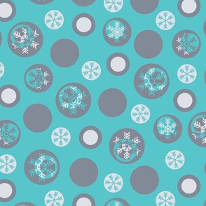 Circled Frosty Mod Blue Grey