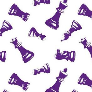 Purple 3d Chess Pieces
