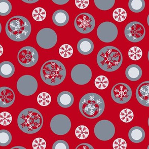 Circled Frosty Mod Red Grey