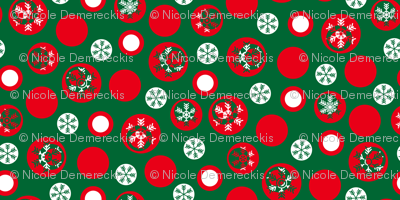 Circled Frosty Mod Green Red White