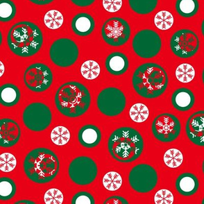 Circled Frosty Mod Red Green White