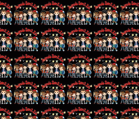 "Stranger Things ""Friends Don't Lie"" fabric by walkingmombiedesing on Spoonflower - custom fabric"
