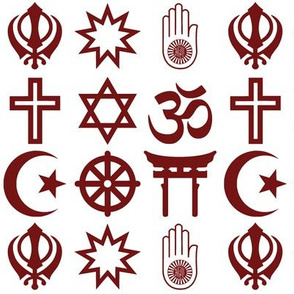 World Religions // Dark Red
