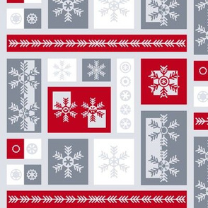 Squared Frosty Mod Grey Red White