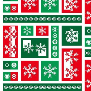Squared Frosty Mod Green Red White