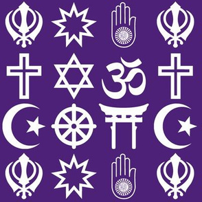 World Religions // Dark Purple