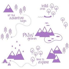 PNW Scene - Purple