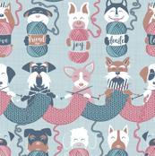 Knitting dog feelings III