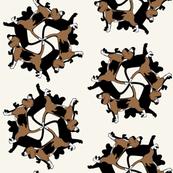 Busby Beagles on Beagle Beige by Su_G
