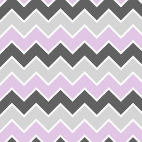 farm coordinate - traditional chevron - purple and grey