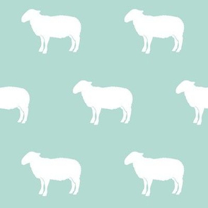 sheep on dark mint