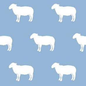 sheep on blue